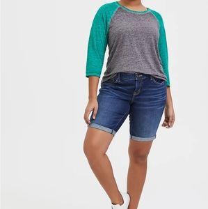 Torrid | Boyfriend Bermuda Jean Shorts Size 16